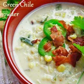 Corn & Green Chile Chowder | Savoring Today