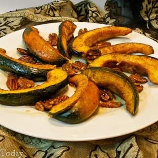Acorn Squash w- Curry Spice & Pecans | Savoring Today