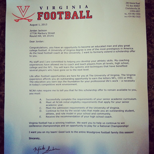 What college football scholarship letters look like The good, bad - scholarship acceptance letter
