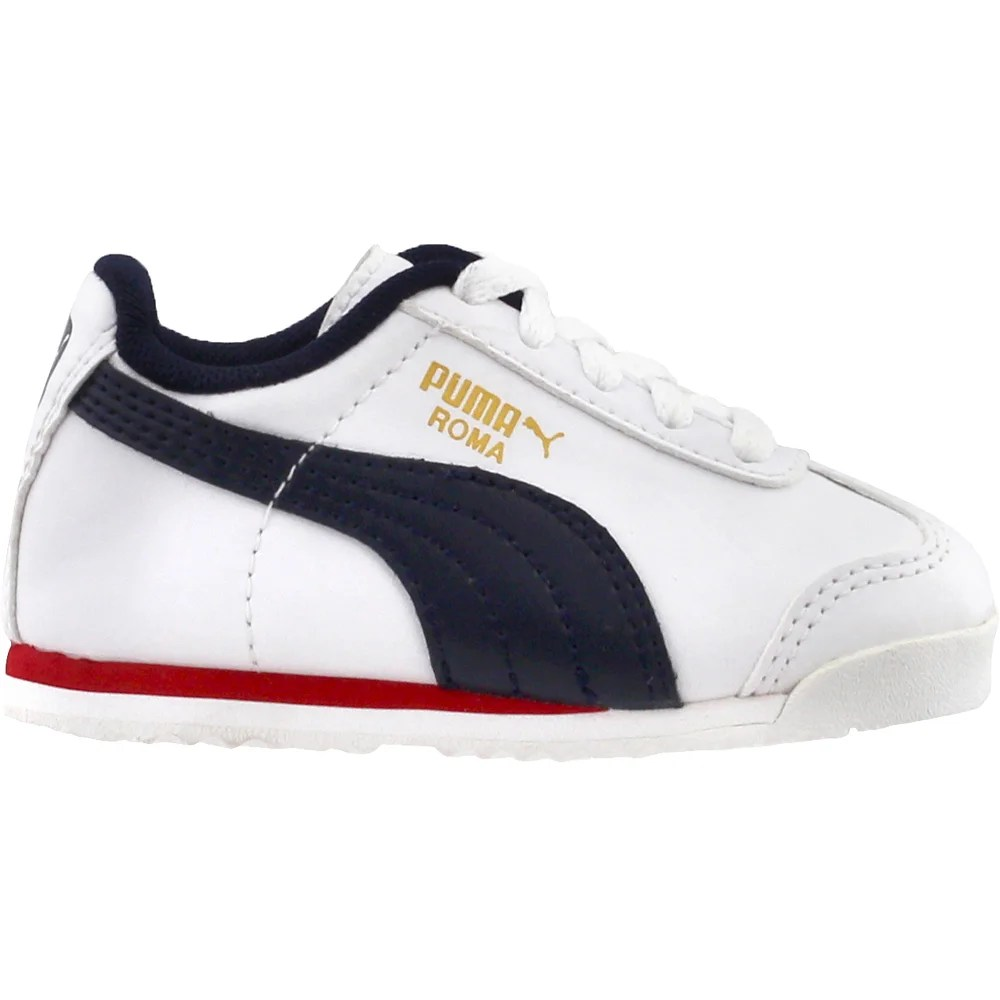 Infant Sneakers Details About Puma Roma Basic Infant Sneakers White Boys