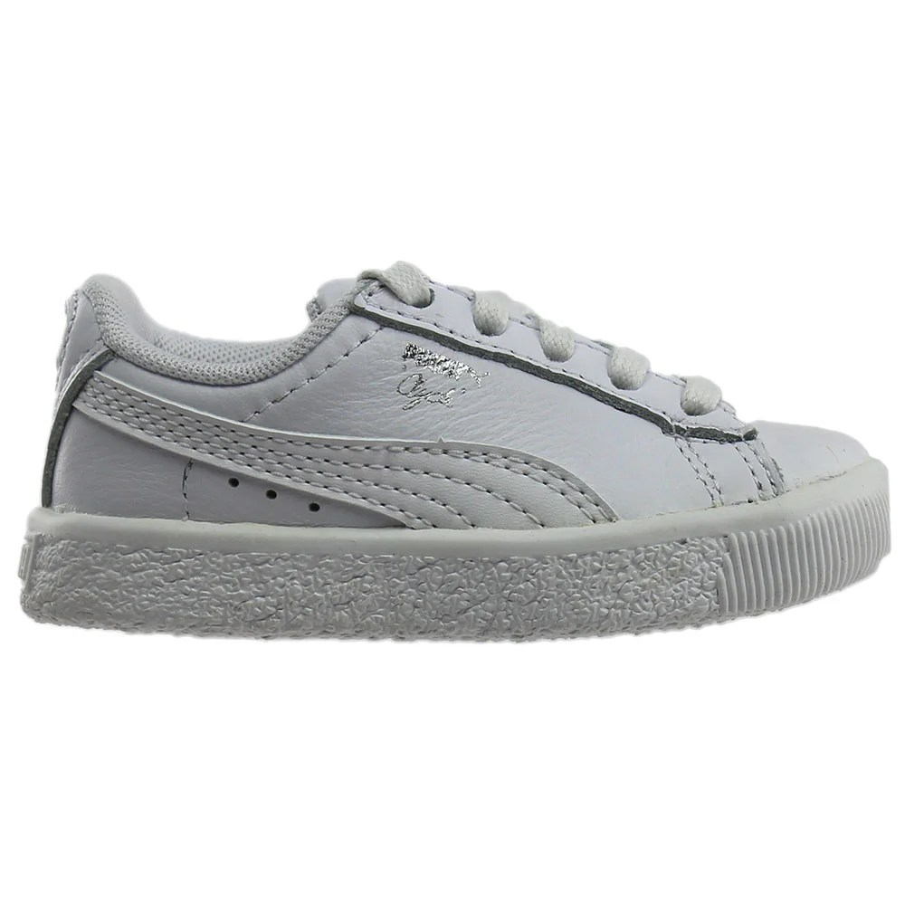 Infant Sneakers Details About Puma Clyde Core Foil Infant Sneakers White Boys Size 4 M