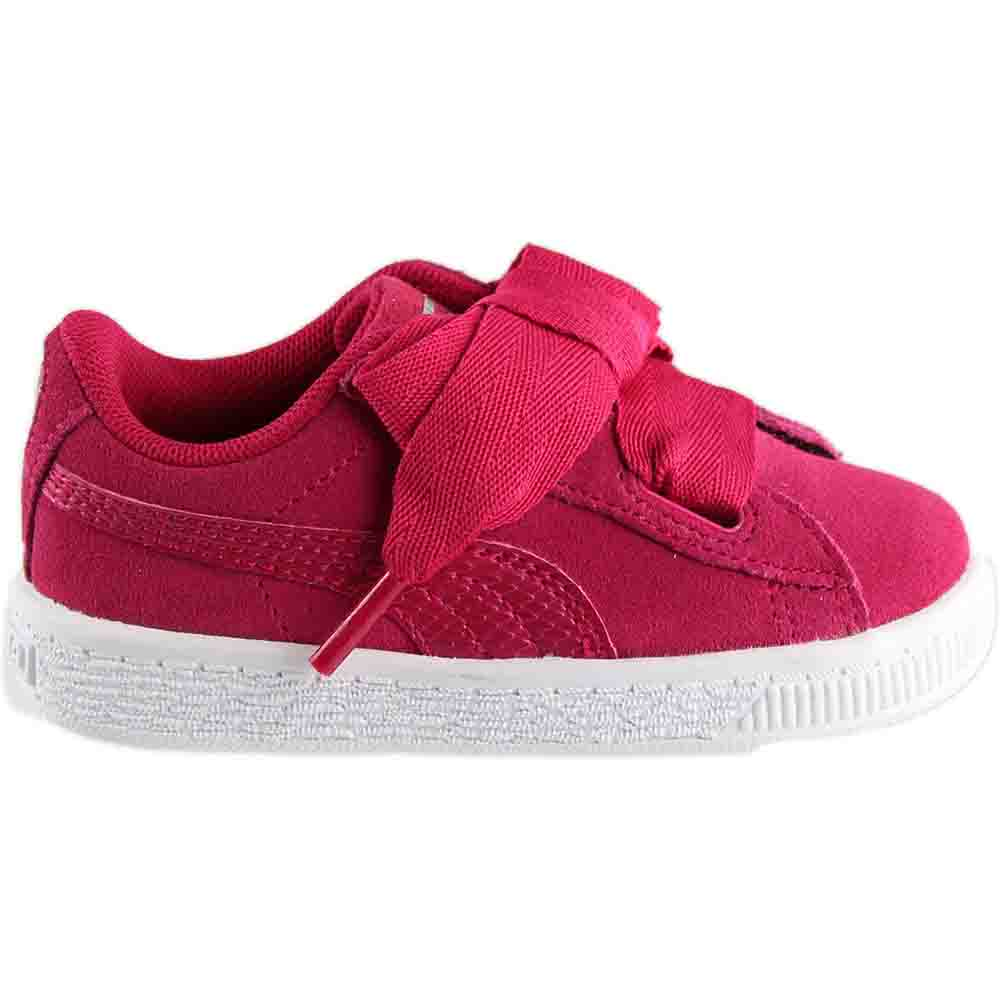 Infant Sneakers Details About Puma Suede Heart Snake Infant Sneakers Pink Girls