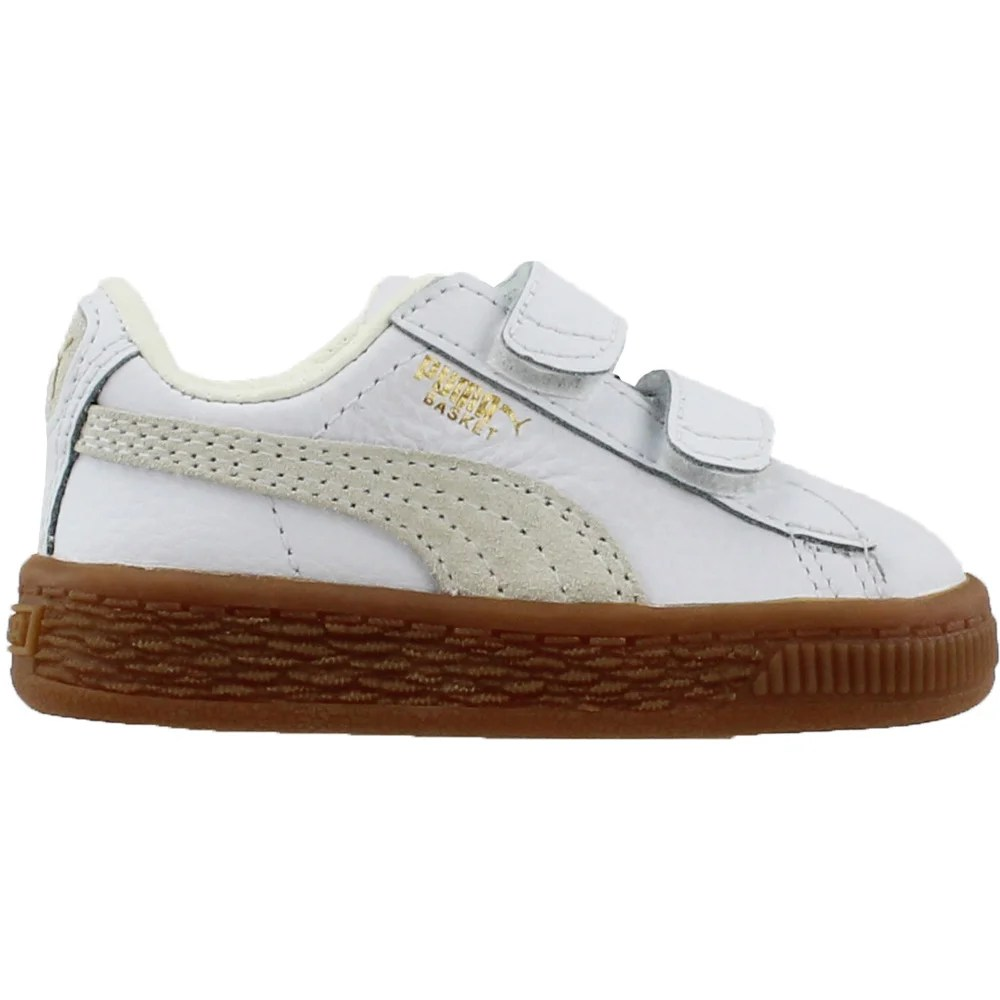 Infant Sneakers Details About Puma Basket Classic Gum Deluxe V Infant Sneakers White Boys Size 4 M