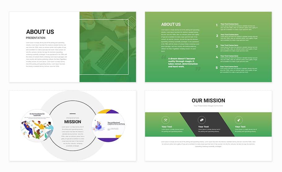 Creative PowerPoint presentation template - Slidecompass