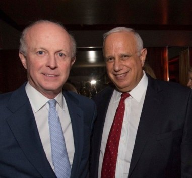 Harvard Campaign Co-Chair Paul Finnegan, AB '75, 'MBA '82, left, and Leadership Council member Carl Stern, AB '68