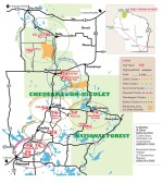 Chequamegon National Forest Trail Map