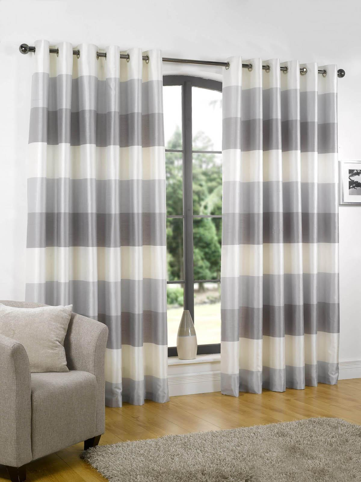 Cheap grey curtains rio ready made eyelet lined curtains