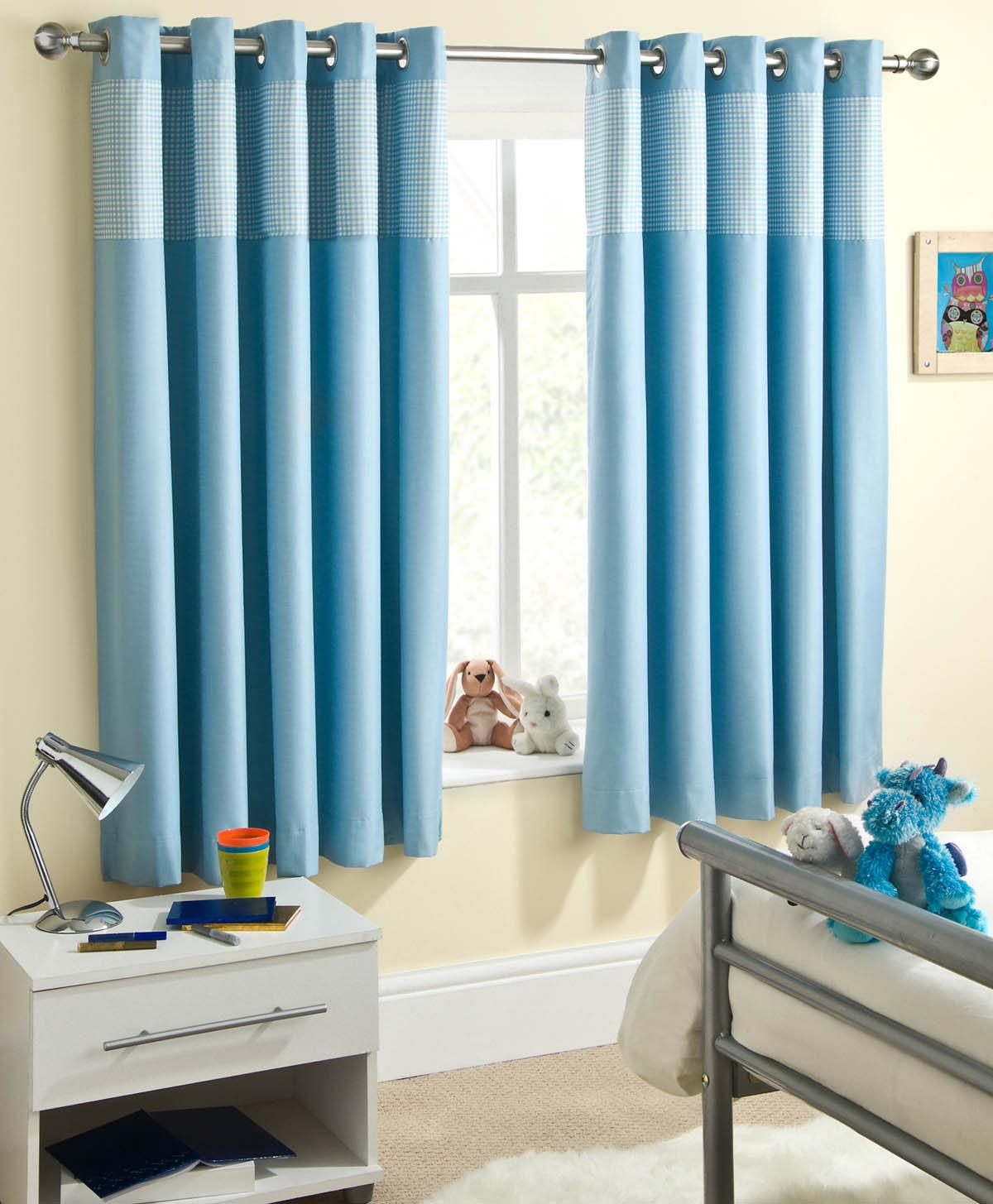 Baby Blue Blackout Curtains Sweetheart Children 39s Thermal Blackout Eyelet Curtains