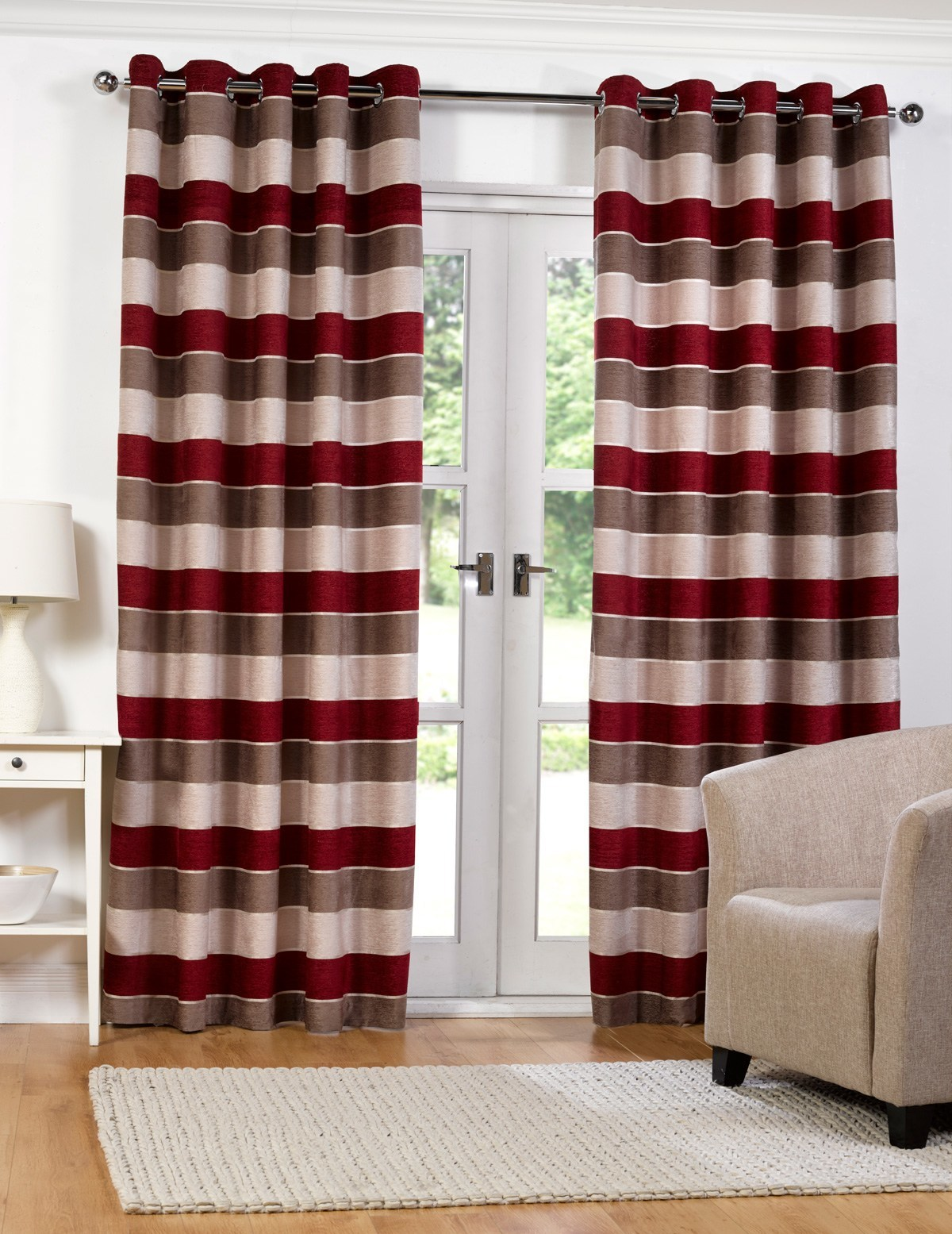 Spotlight Eyelet Curtains Homebase Arthouse Duropolymer Coving Chicago 4 Pack