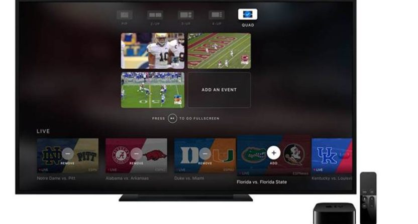 ESPN unveils new Apple TV app with multi-screen experience - multi screen display
