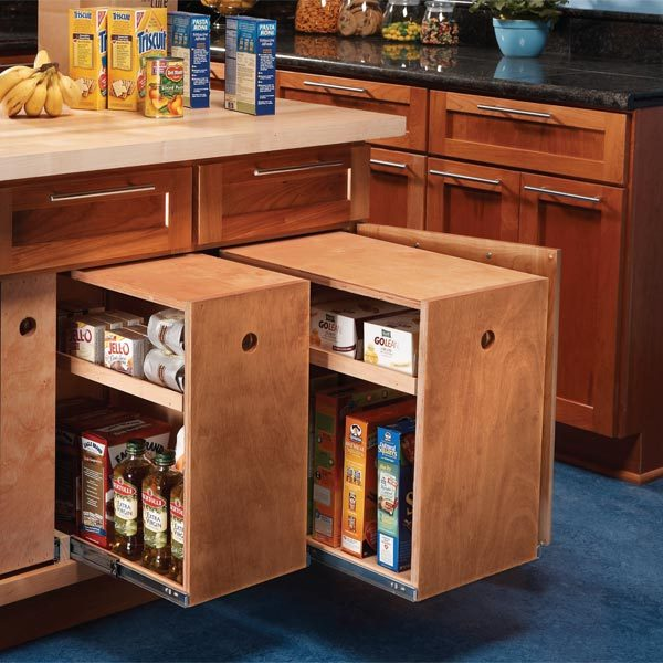Kitchen Waste Bins Built In Build Organized Lower Cabinet Rollouts For Increased