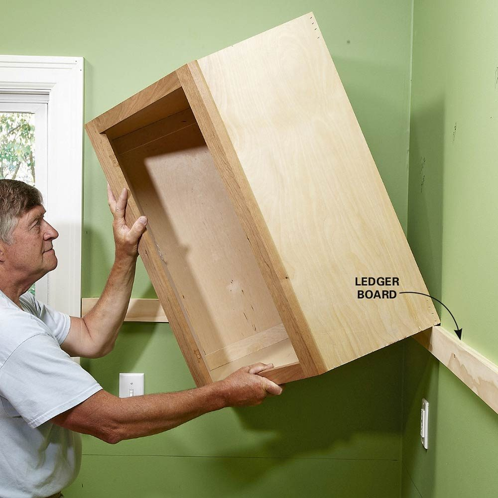 diy kitchen cabinets installing kitchen cabinets Install Cabinets Like a Pro