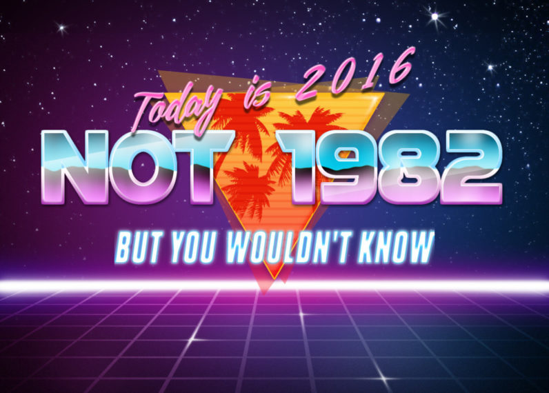 Why this funky 80s graphic generator is taking over Twitter