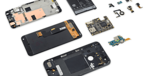 google pixel xl, teardown