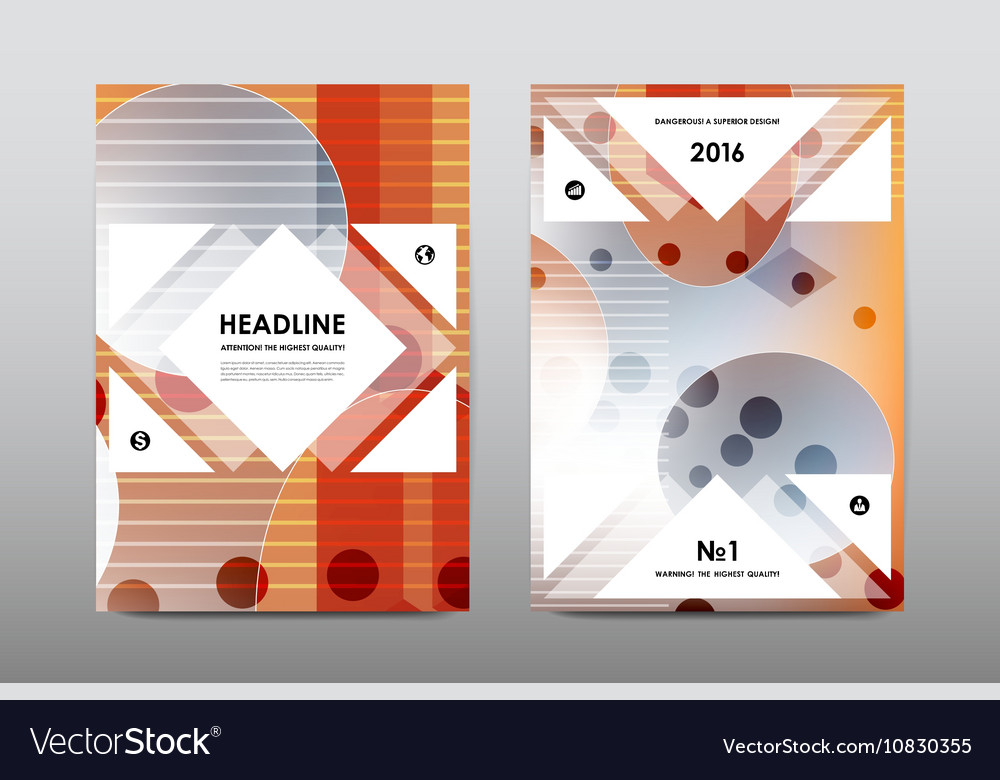 Brochure layout template flyer design Royalty Free Vector