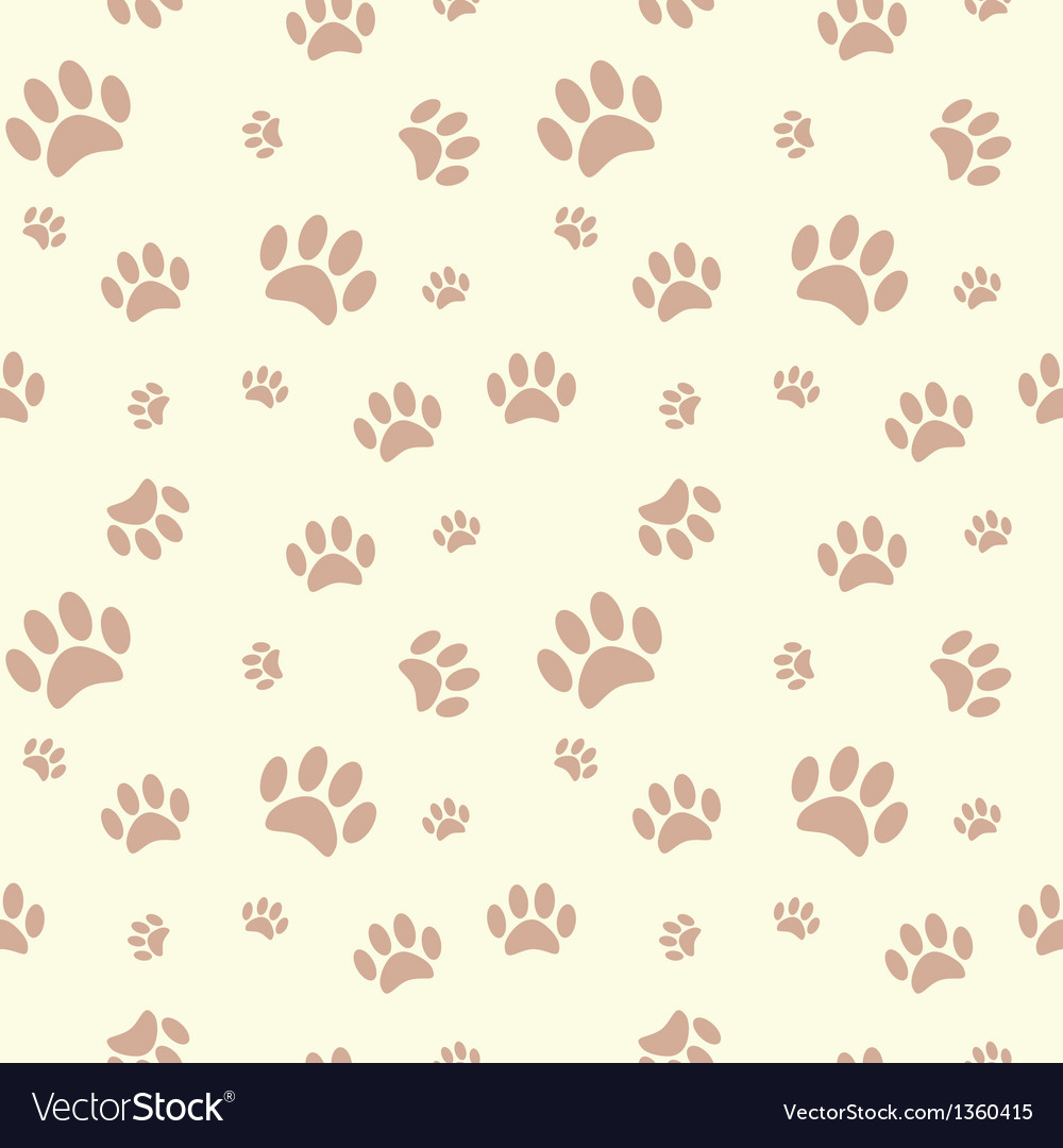 Cute Pattern Wallpaper Free Background With Dog Paw Print And Bone Royalty Free Vector