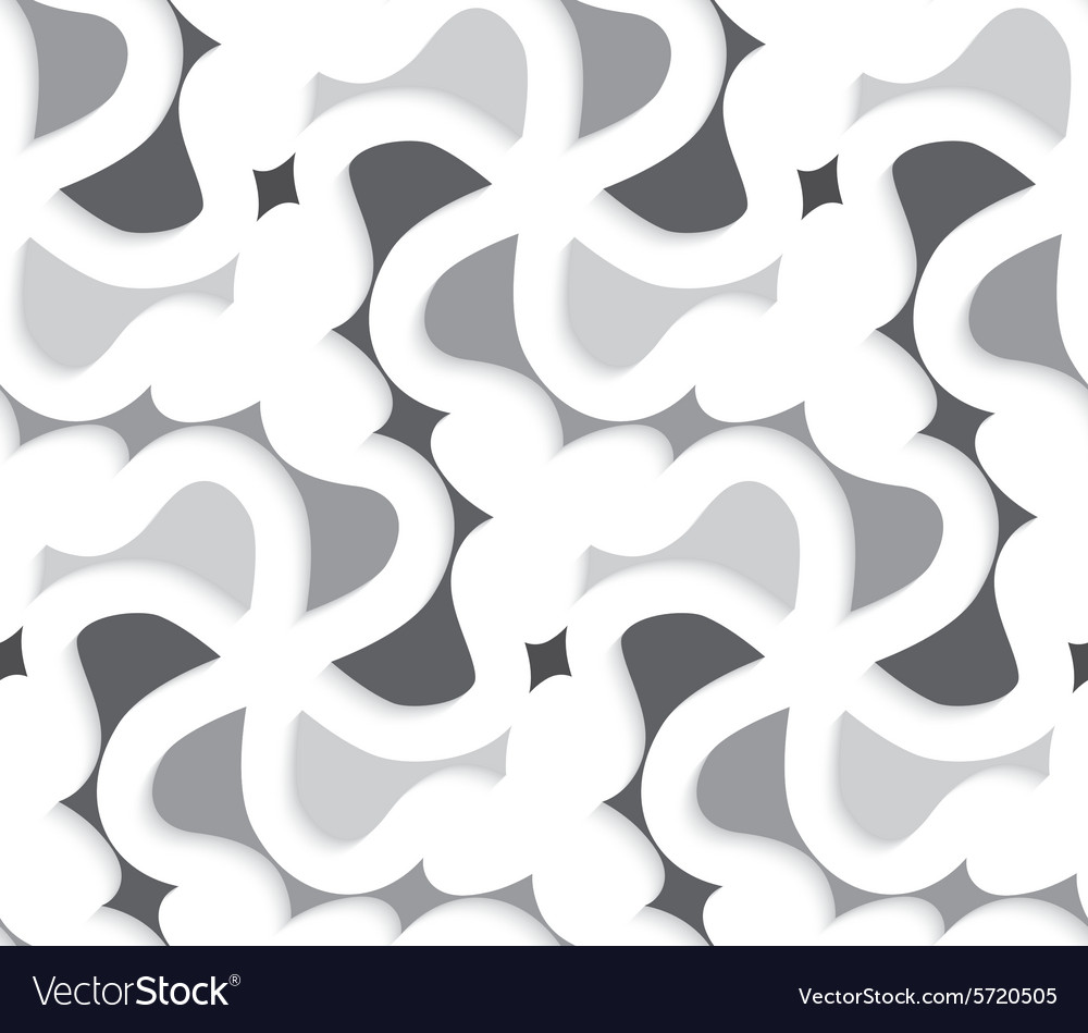 Shads Of Gray White 3d Wavy With Shades Of Gray Pattern