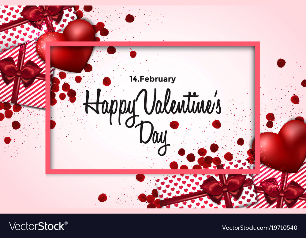 Valentines day card - 2018 Royalty Free Vector Image