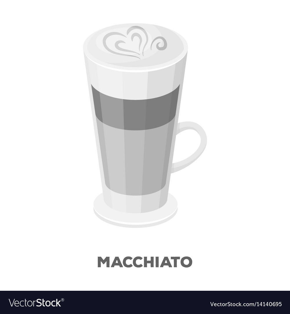 Different Types Of Foam Cup Of Coffee Macchiato With Foam Different Types Vector Image On Vectorstock