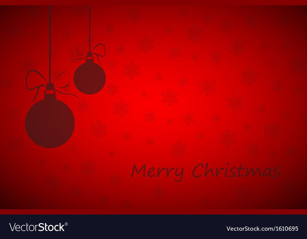 Simple red merry christmas background Royalty Free Vector