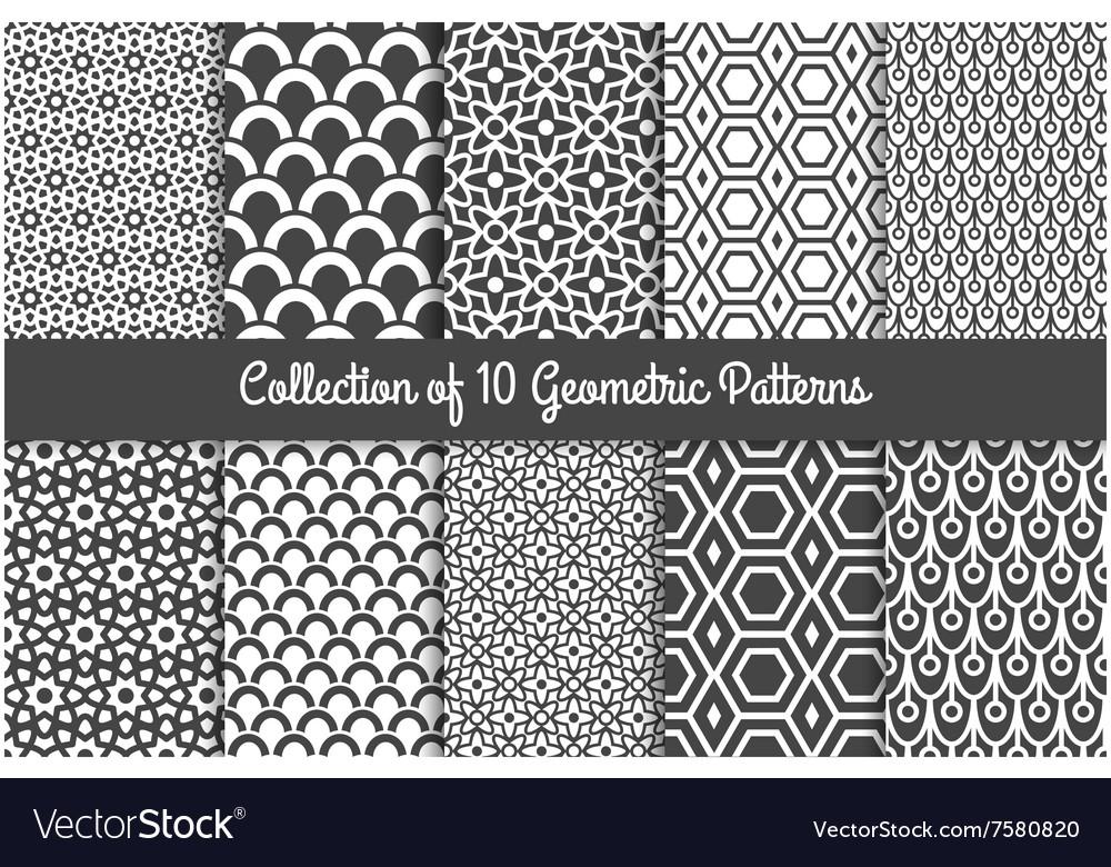 Modern geometric patterns Royalty Free Vector Image