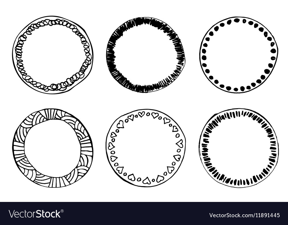 Simple hand drawn doodle circle template Vector Image - circle template