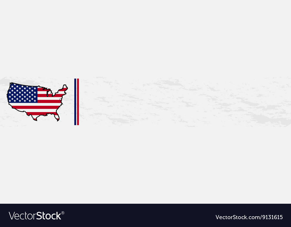 USA map flag banner template Royalty Free Vector Image