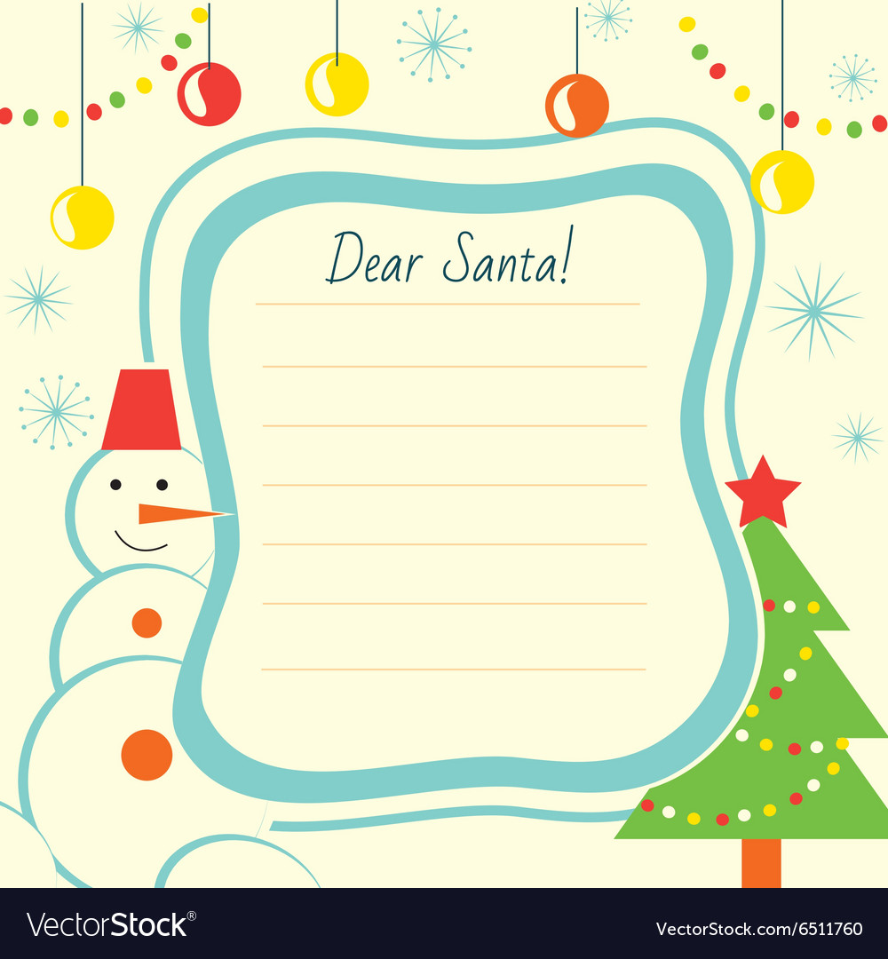 Fullsize Of Christmas Letter Template