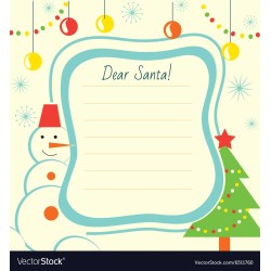 Small Crop Of Christmas Letter Template