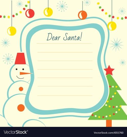 Medium Of Christmas Letter Template