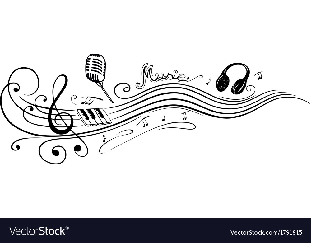 Clef music notes Royalty Free Vector Image - VectorStock - clef music