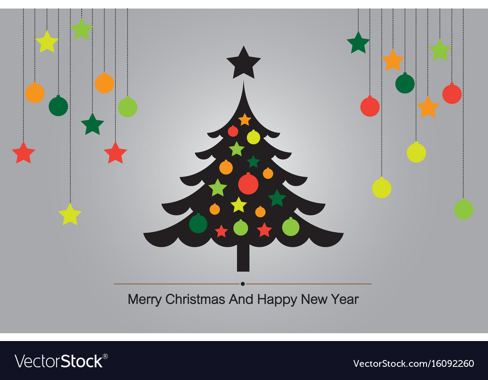 Christmas tree background Royalty Free Vector Image
