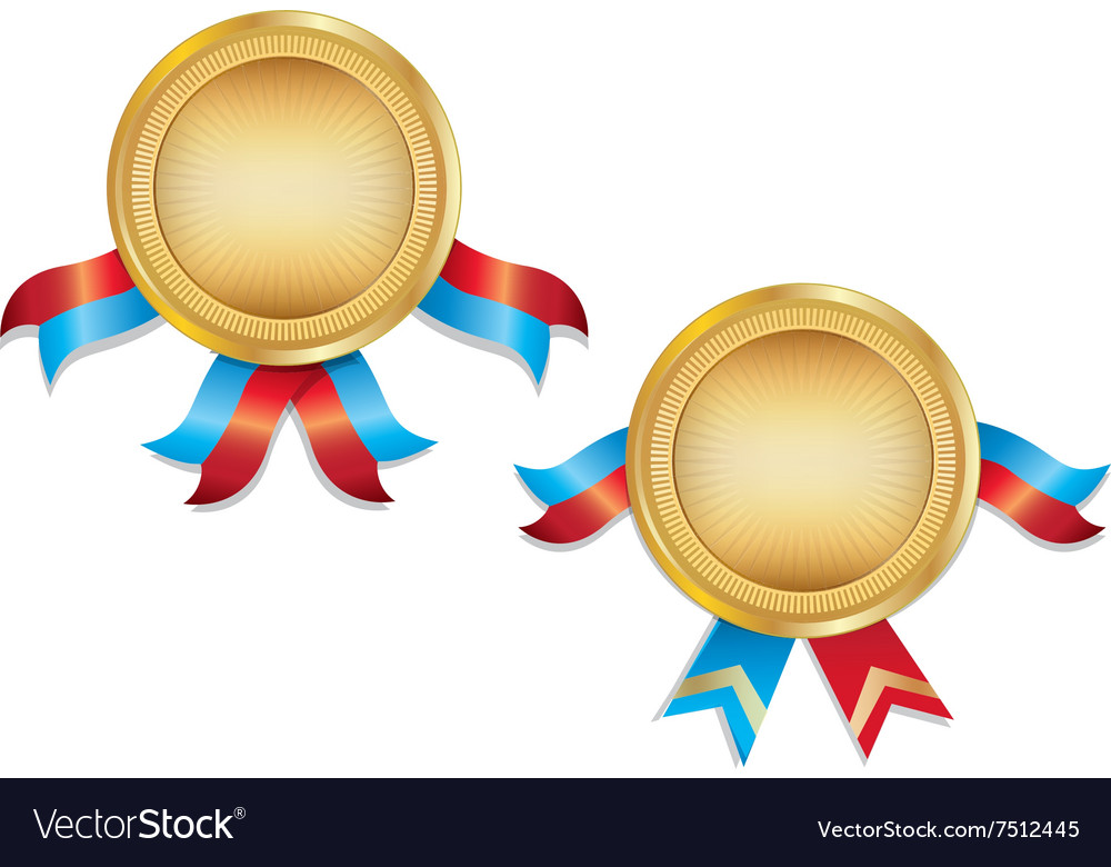 Award Medals Template With Ribbon Royalty Free Vector Image - gold medal templates