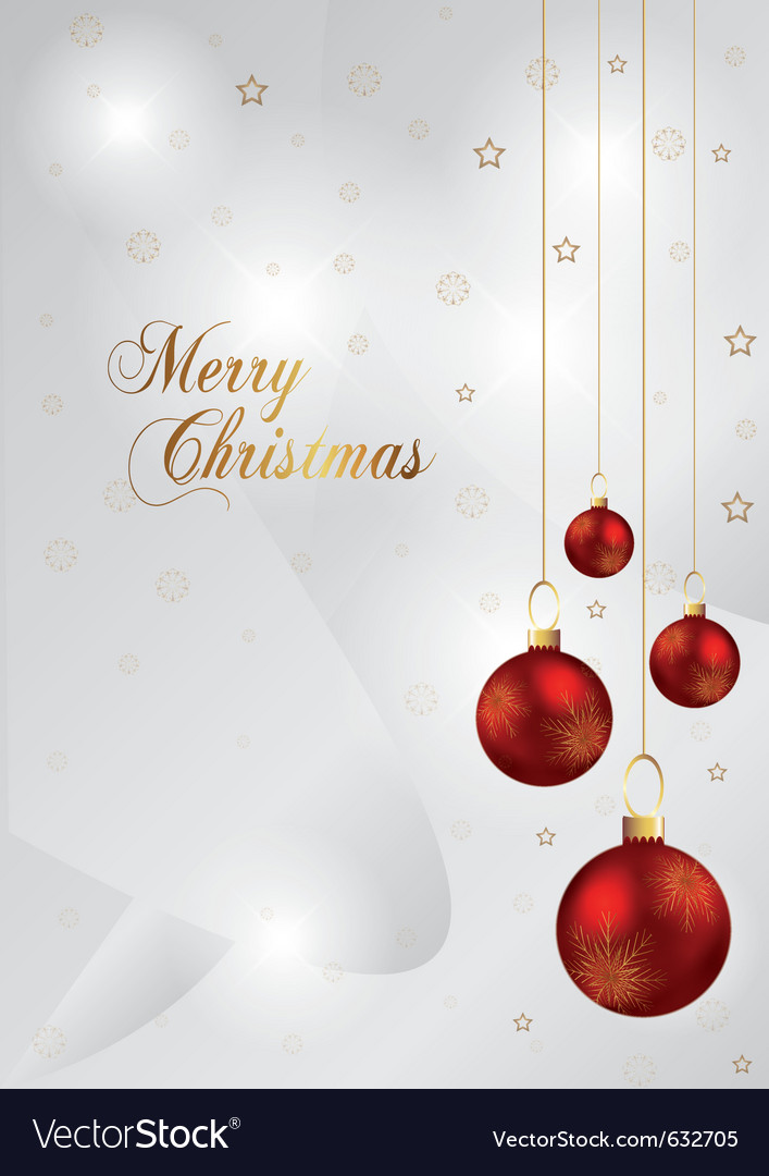 Elegant christmas background with red and gold chr