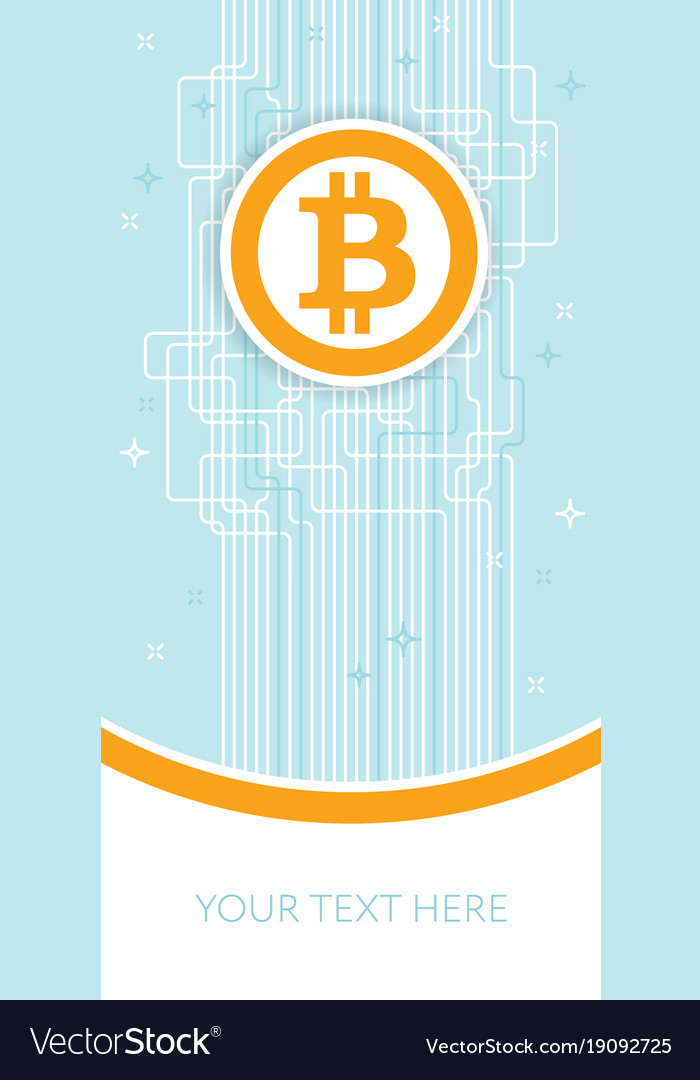 Bitcoin blockchain flyer template cryptocurrency Vector Image - Flyer Outline