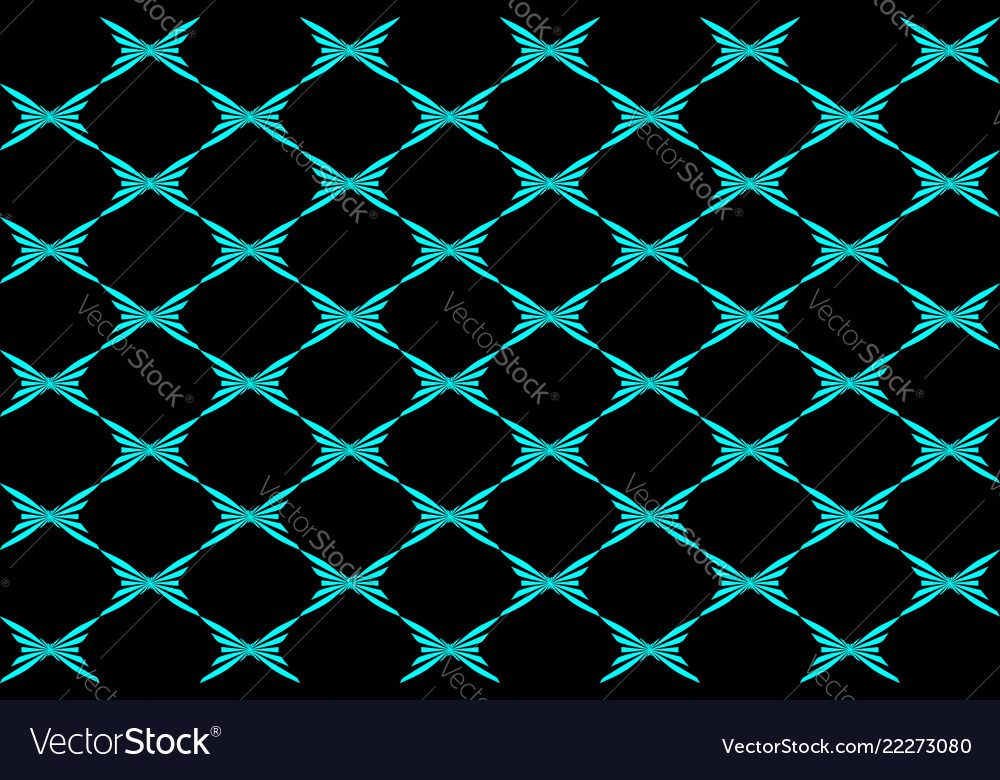 Abstract blue butterfly on black background Vector Image