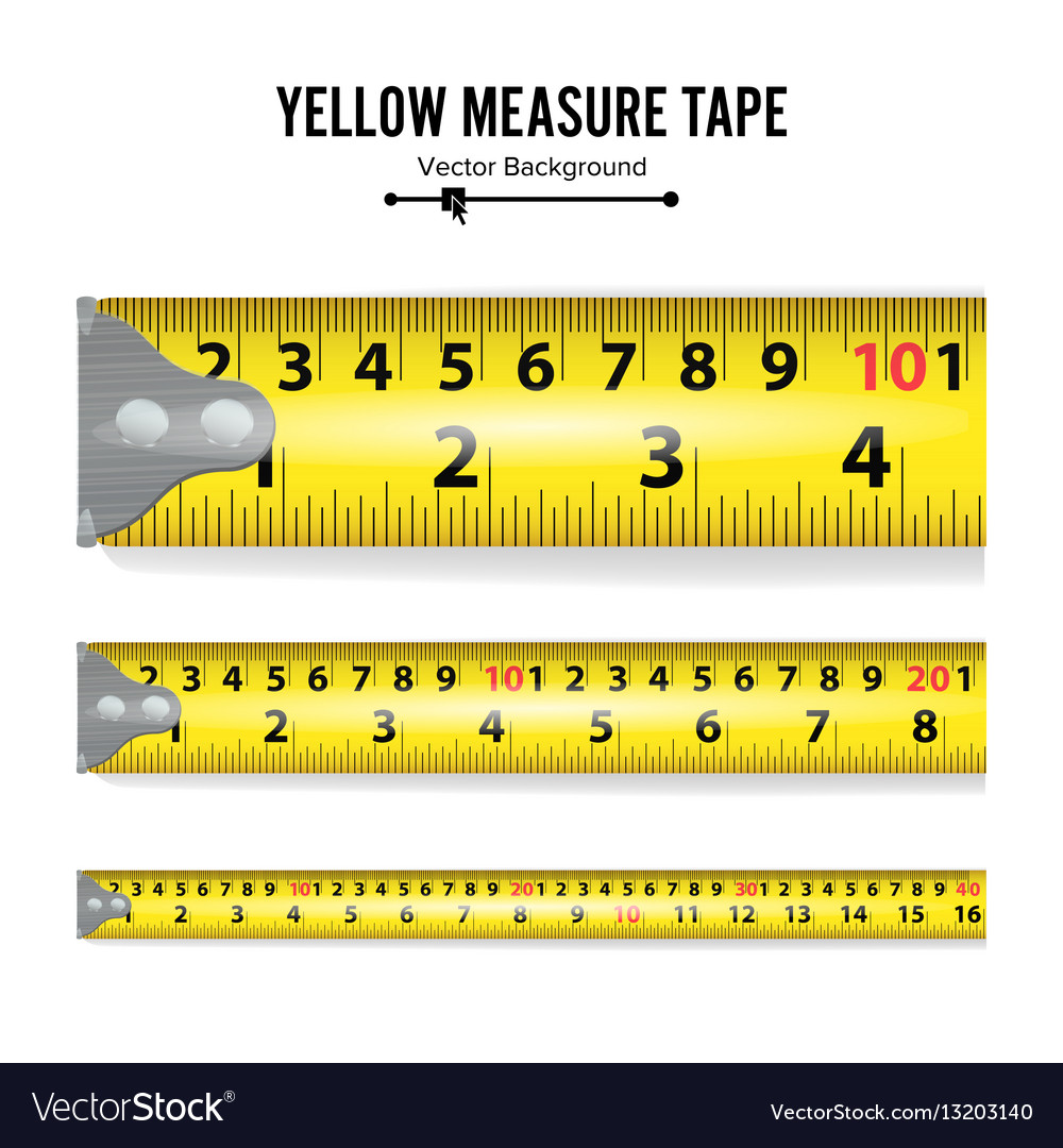 Ich Cm Yellow Measure Tape Centimeter And Inch Royalty Free Vector