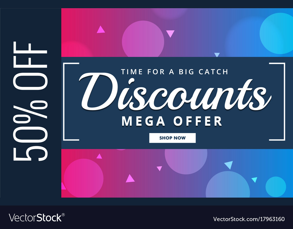 Discount voucher design with offer details Vector Image