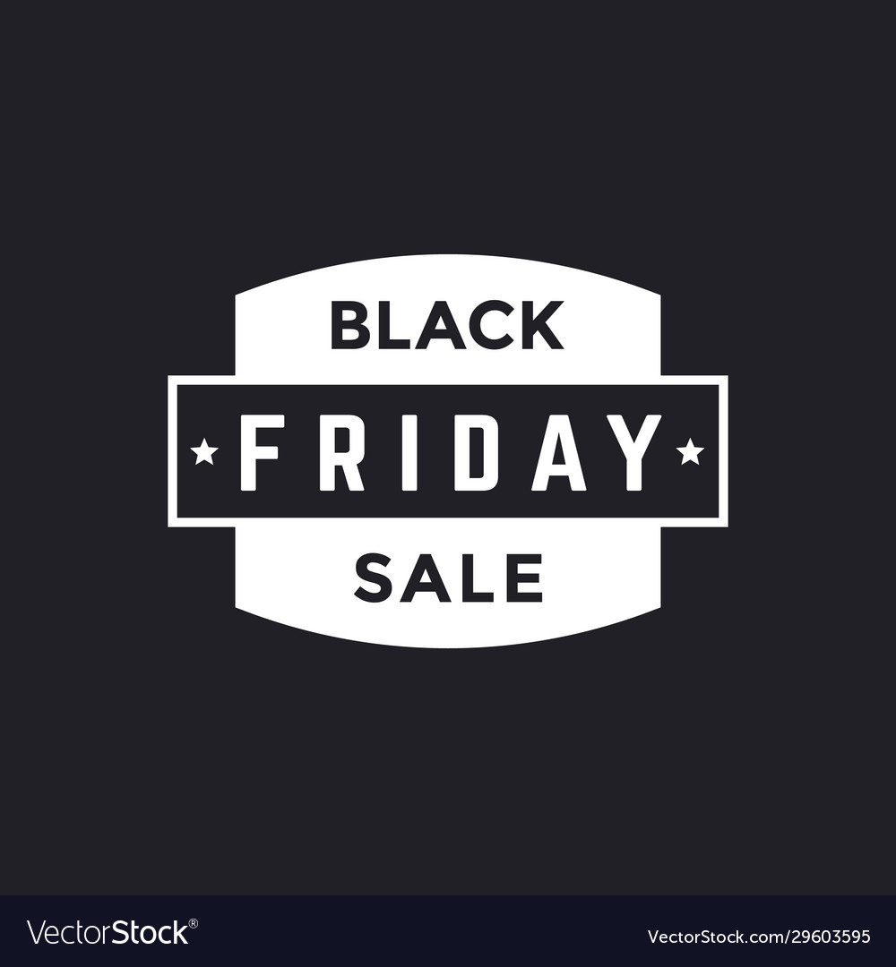 Black Friday Sale Simple Vintage Banner Royalty Free Vector