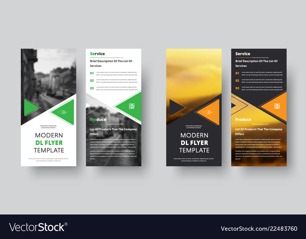 Black and white dl flyer design with place for Vector Image