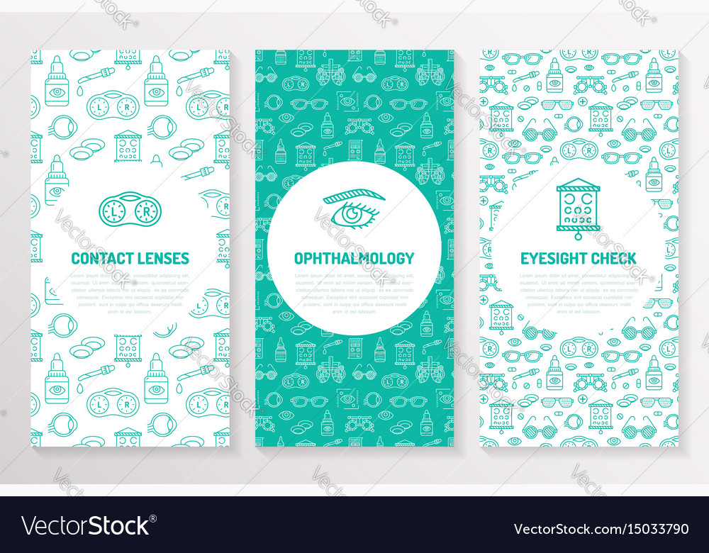 Ophthalmology medical brochure template flyer Vector Image