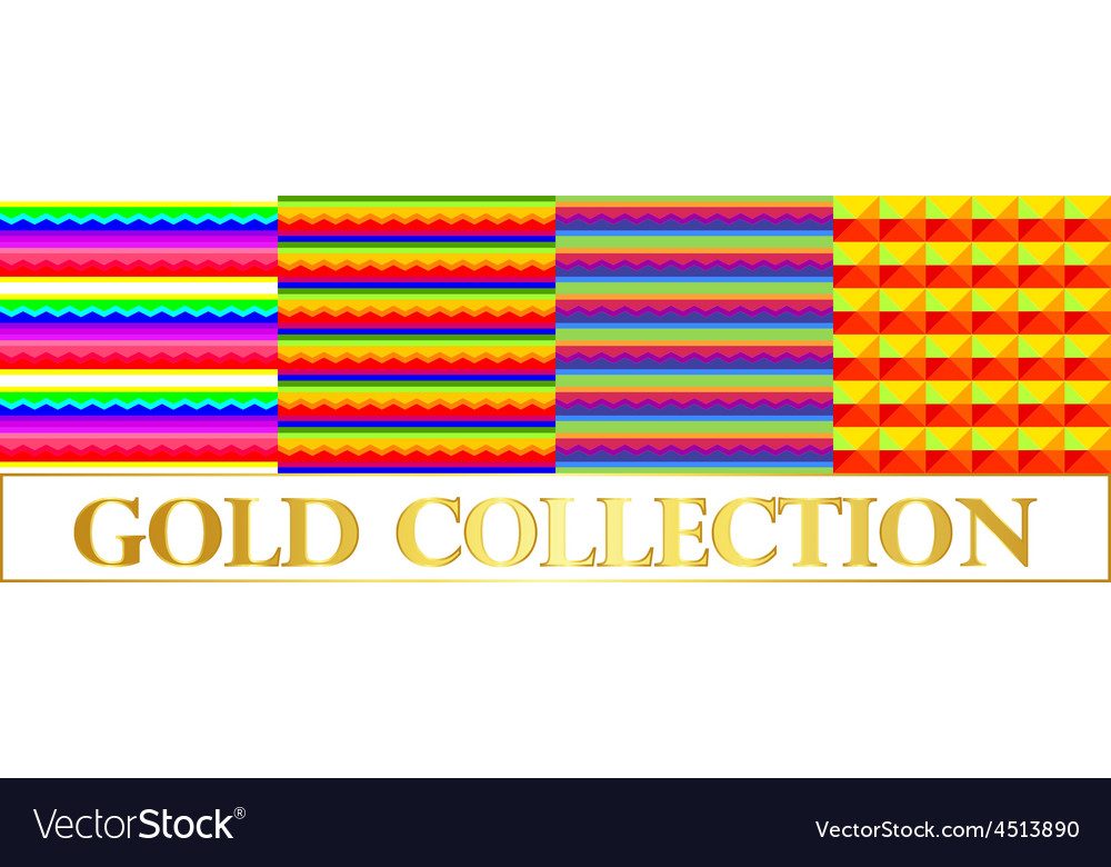 Set background with horizontal stripes rainbow Vector Image