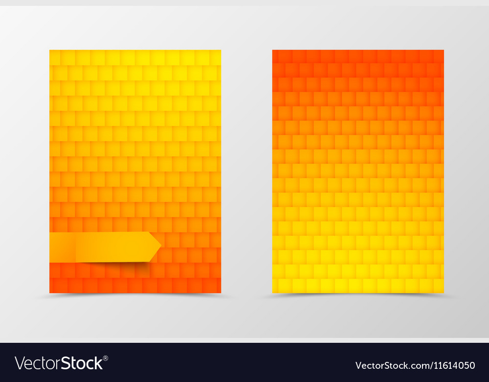 Front and back geometric flyer template design Vector Image