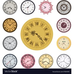 Small Crop Of Fancy Clock Faces