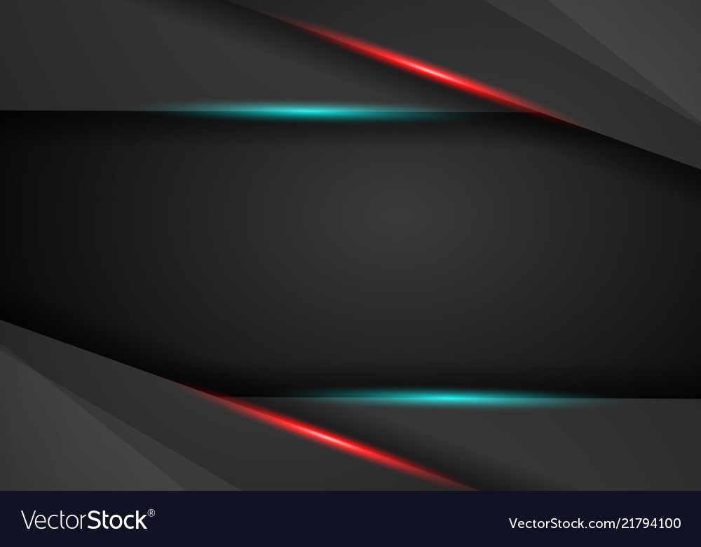 Black background overlap dimension red and blue Vector Image