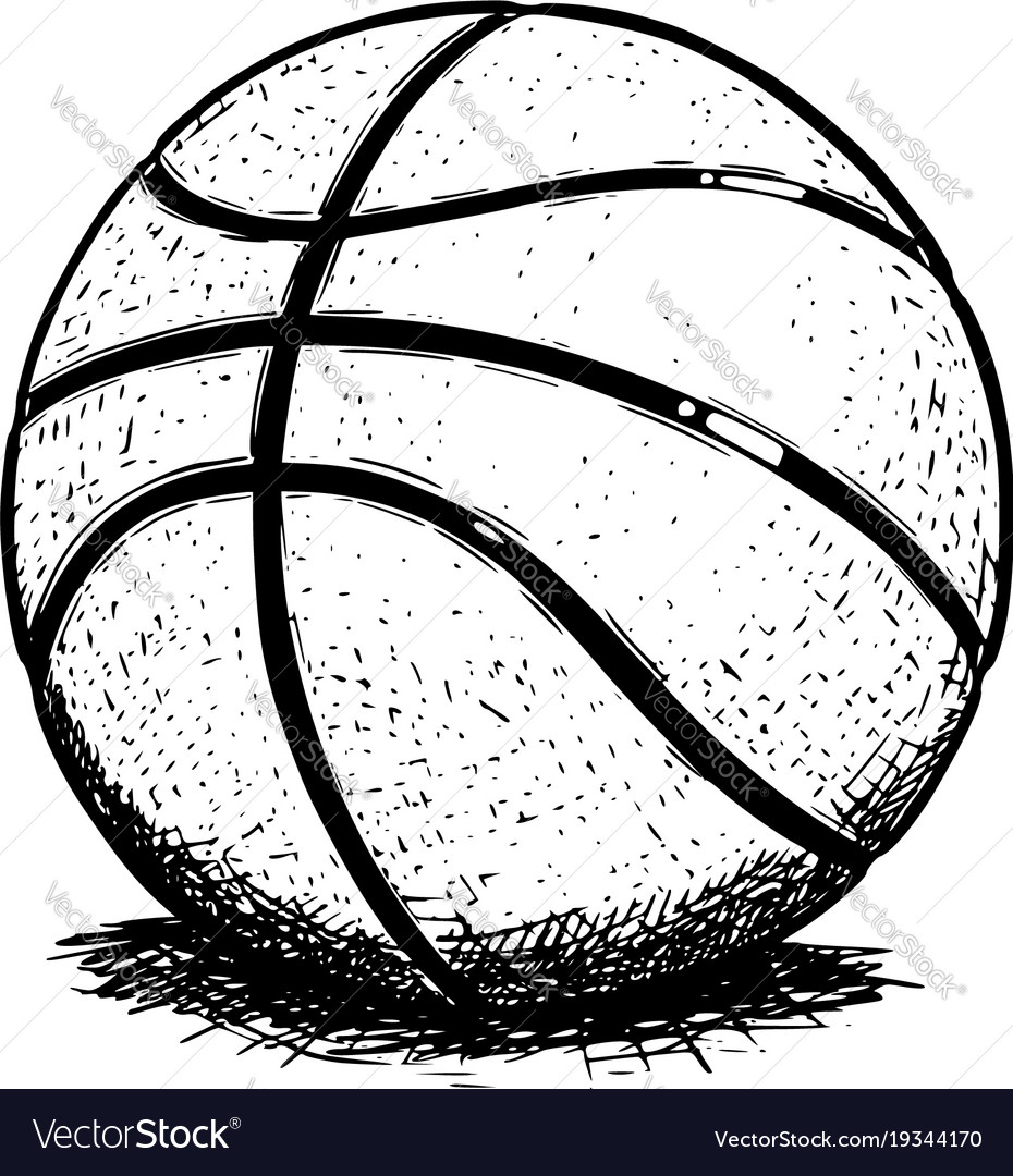 Basketball Ball Basketball Ball Hand Drawing