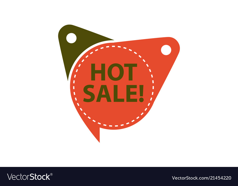 Hot sale tag template isolated Royalty Free Vector Image - sale tag template