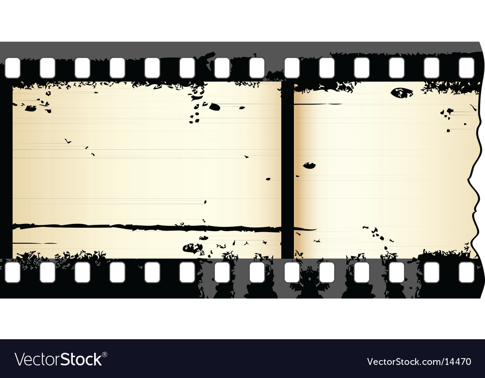 Grunge film strip Royalty Free Vector Image - VectorStock