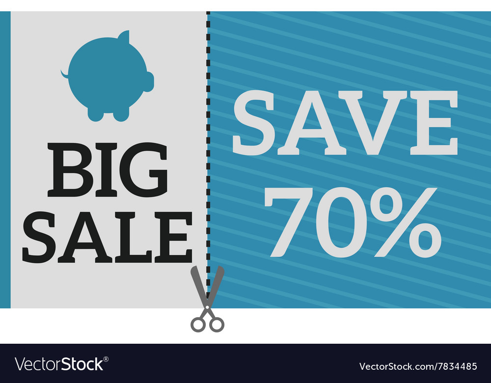 Sale Coupon certificate template Royalty Free Vector Image
