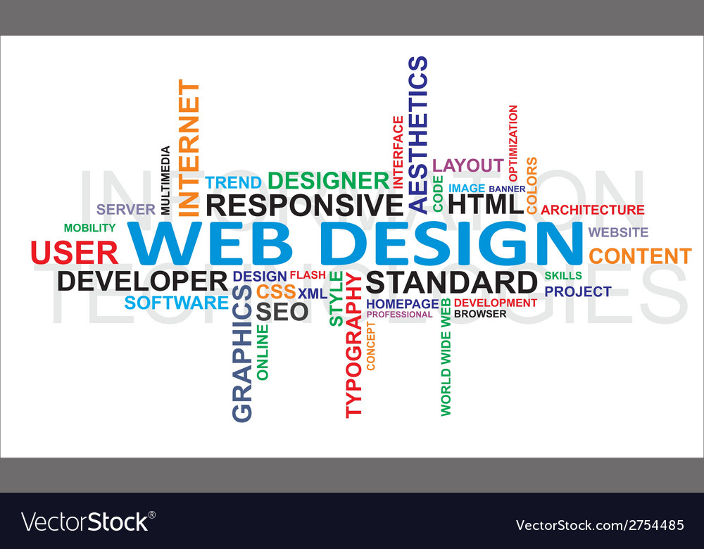 Word cloud web design Royalty Free Vector Image